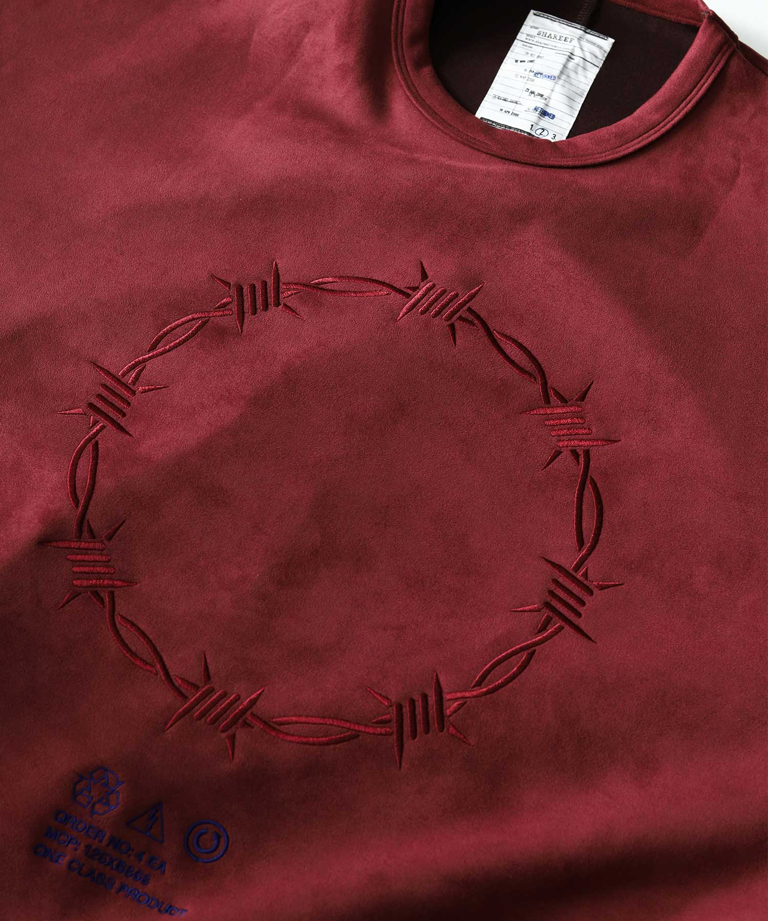 BARBED WIRE MICRO SUEDE SWEAT SHAREEF