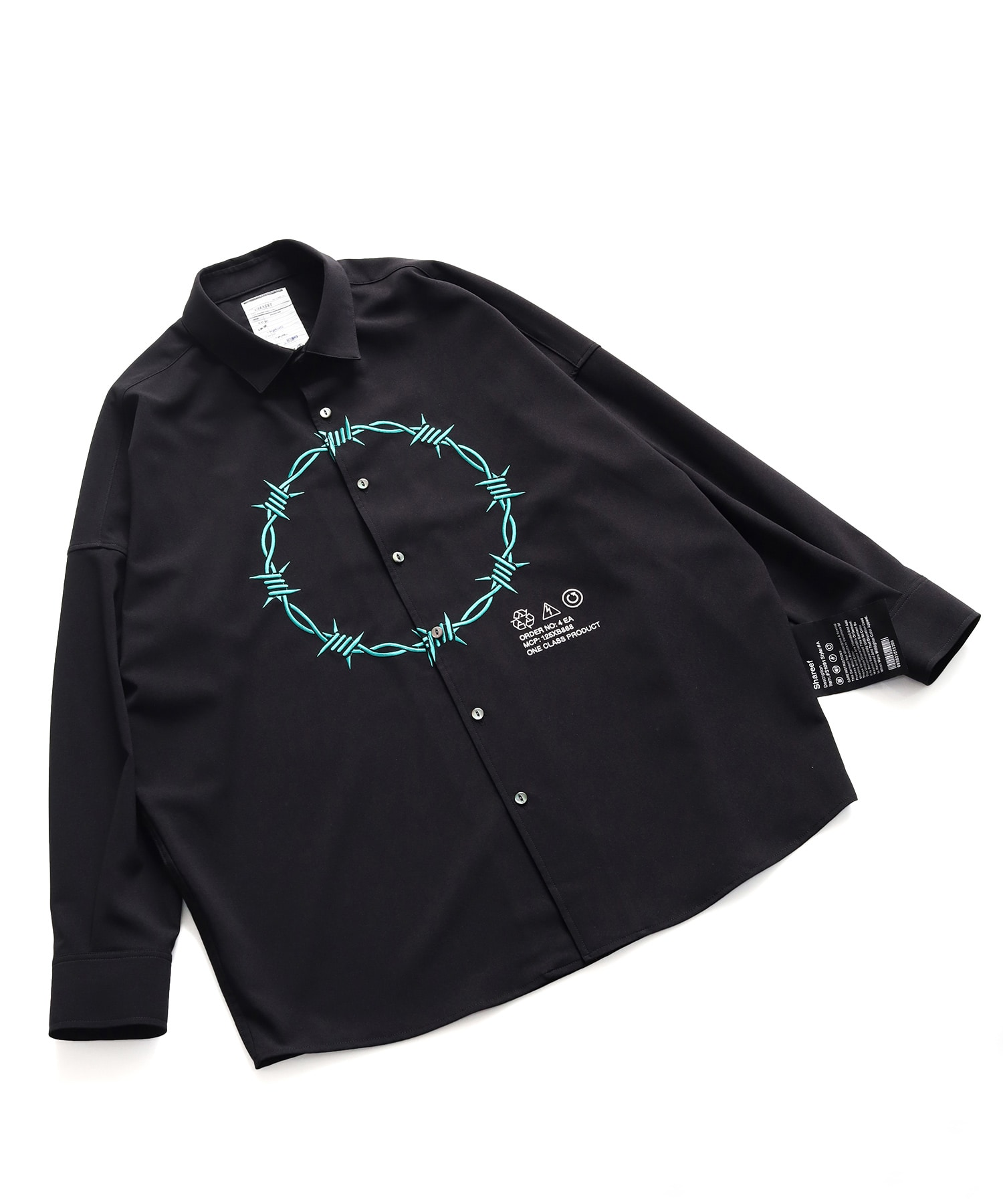 BARBED WIREemb. L/S SHIRTS SHAREEF
