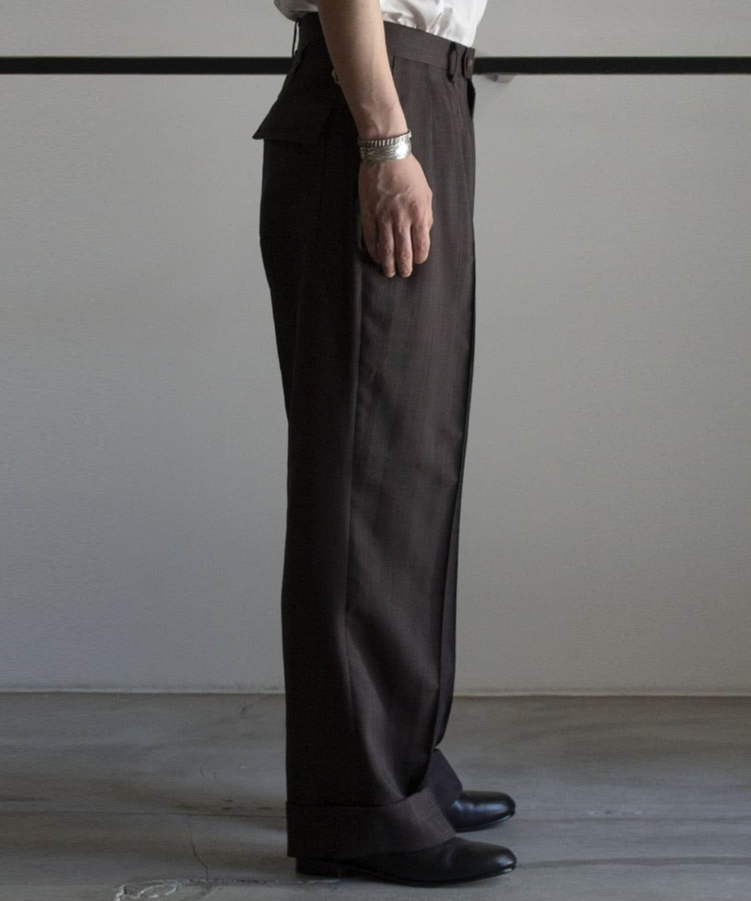 SHADOW STRIPE WIDE TROUSERS RAINMAKER
