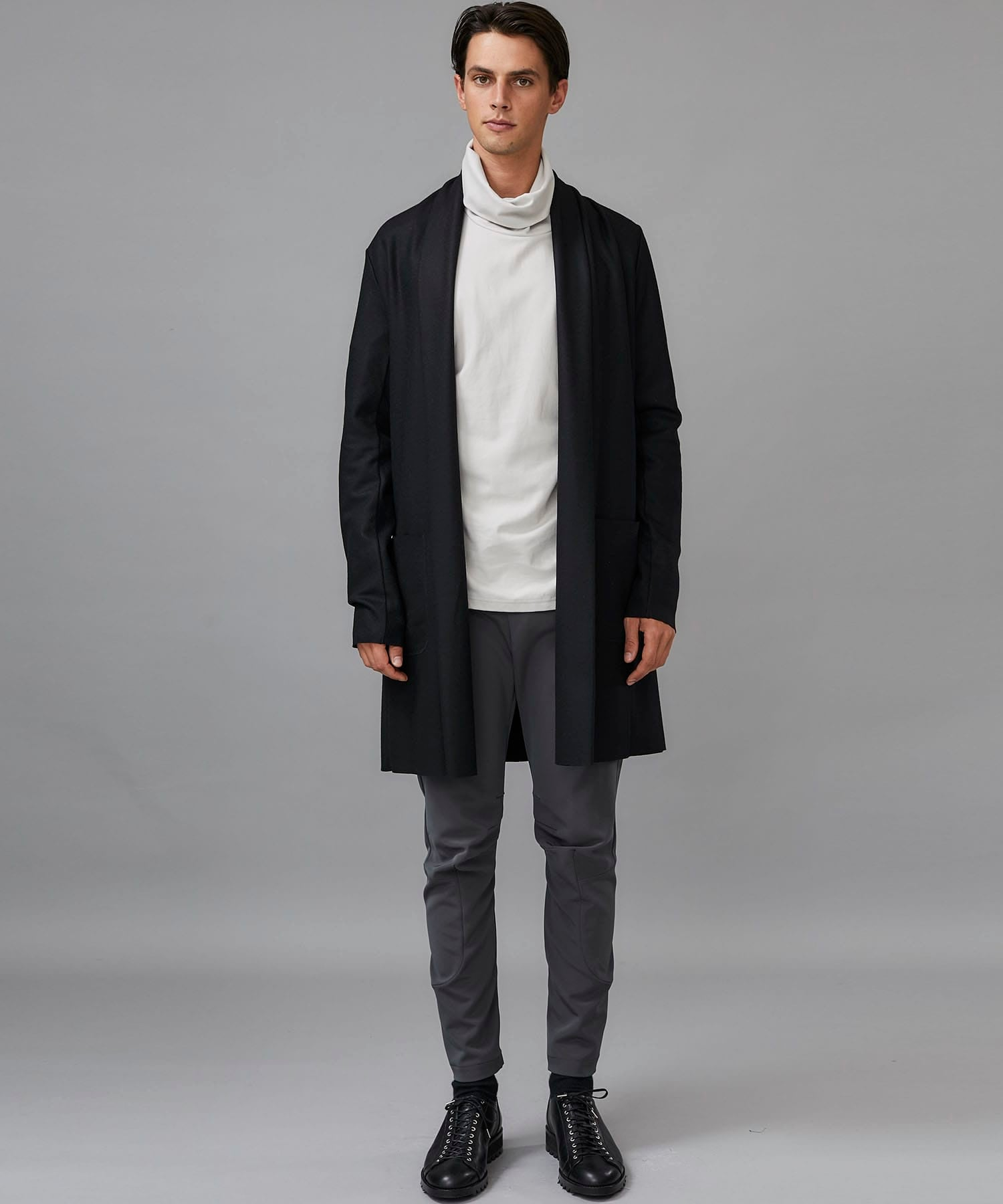 FLANNEL SMOOTH LONG STOLE CARDIGAN ATTACHMENT