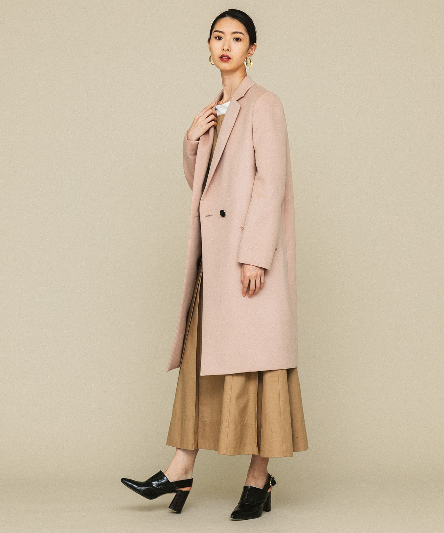ONE BUTTON CHESTER COAT CINOH