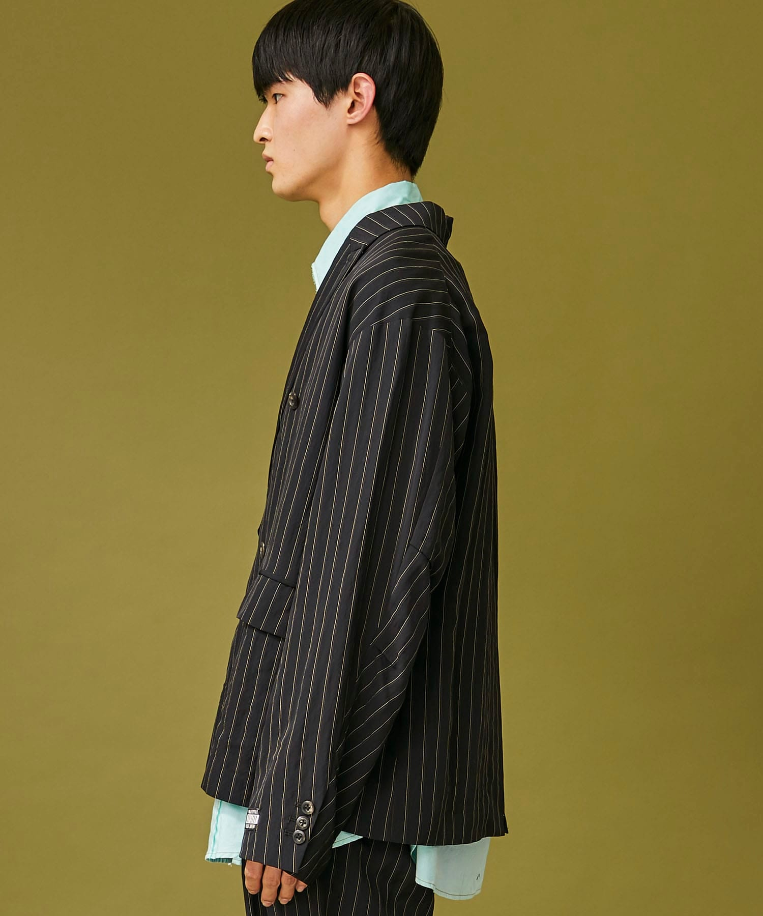 RAYON STRIPE DOUBLE JACKET JieDa