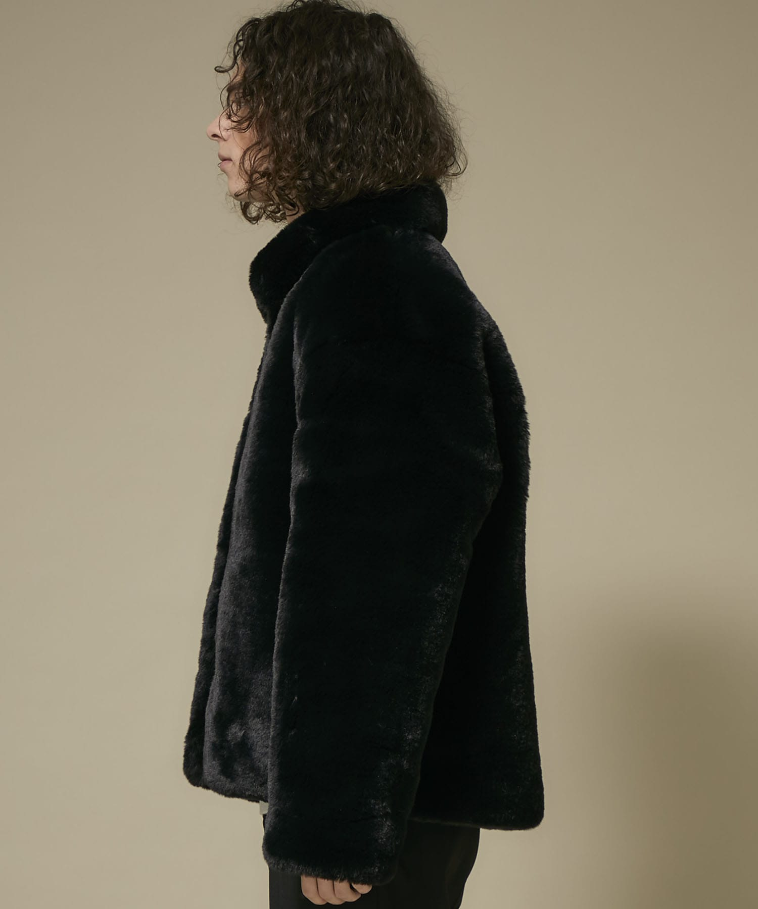 別注DADA Logo Faux Fur Jacket CHRISTIAN DADA