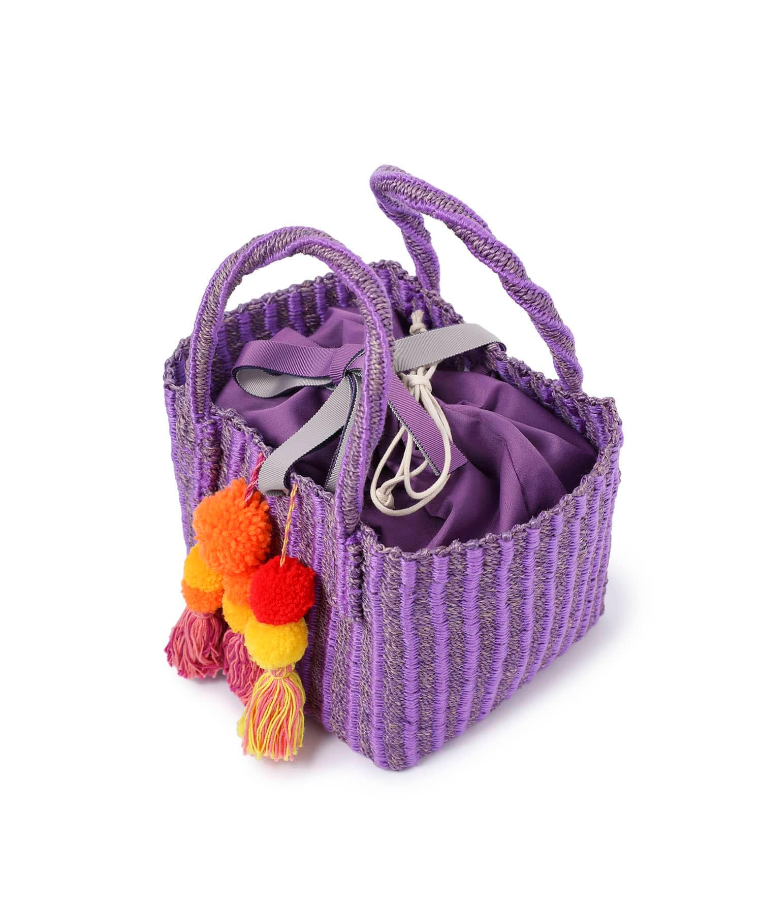 Pompon basket bag Liberty Bell