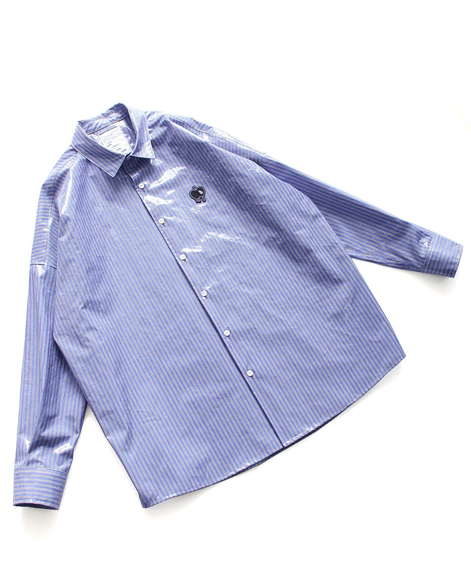 LAMINATE STRIPE L/S SHIRTS SHAREEF