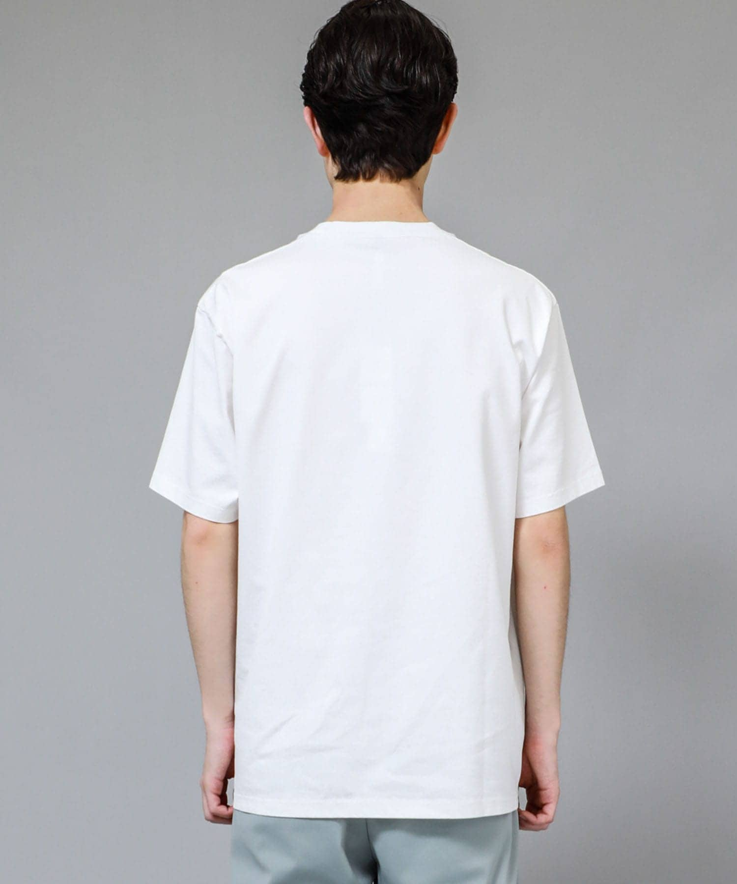 STUDIOUS別注 GIZA SILKY S/S TEE ATTACHMENT