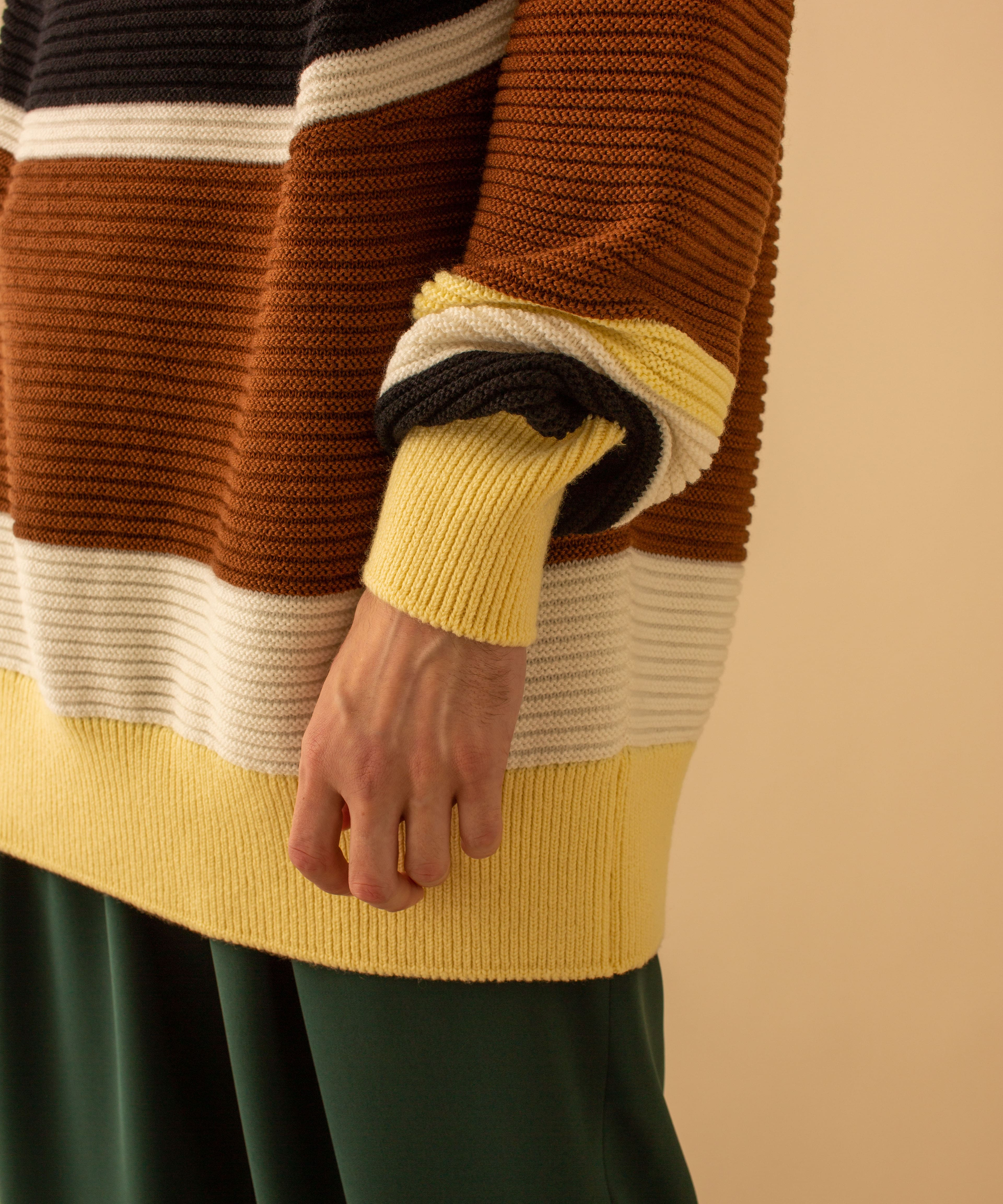 COLOR BLOCK TURTLE KNIT CULLNI