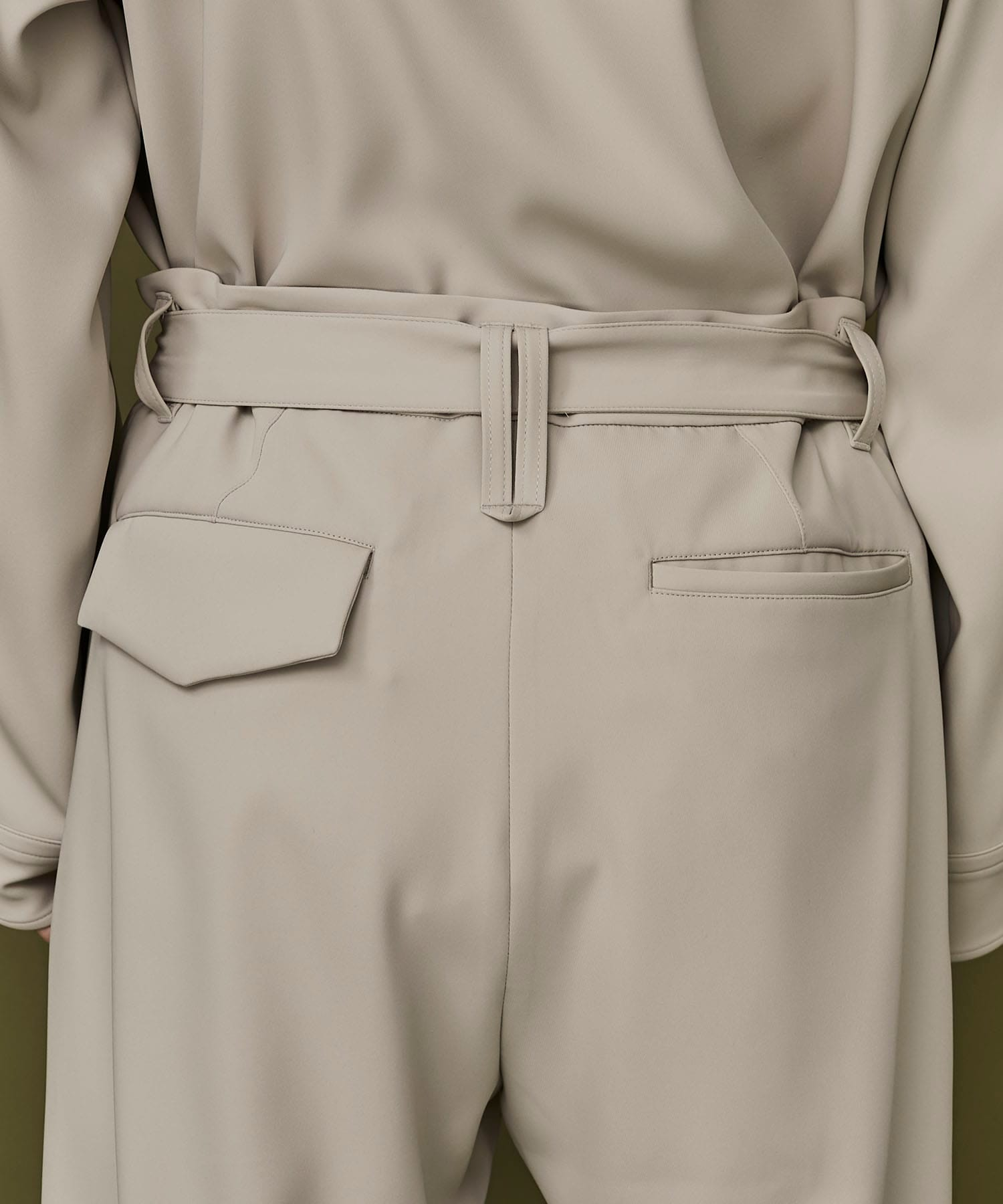 BELTED TAPERED PANTS CULLNI