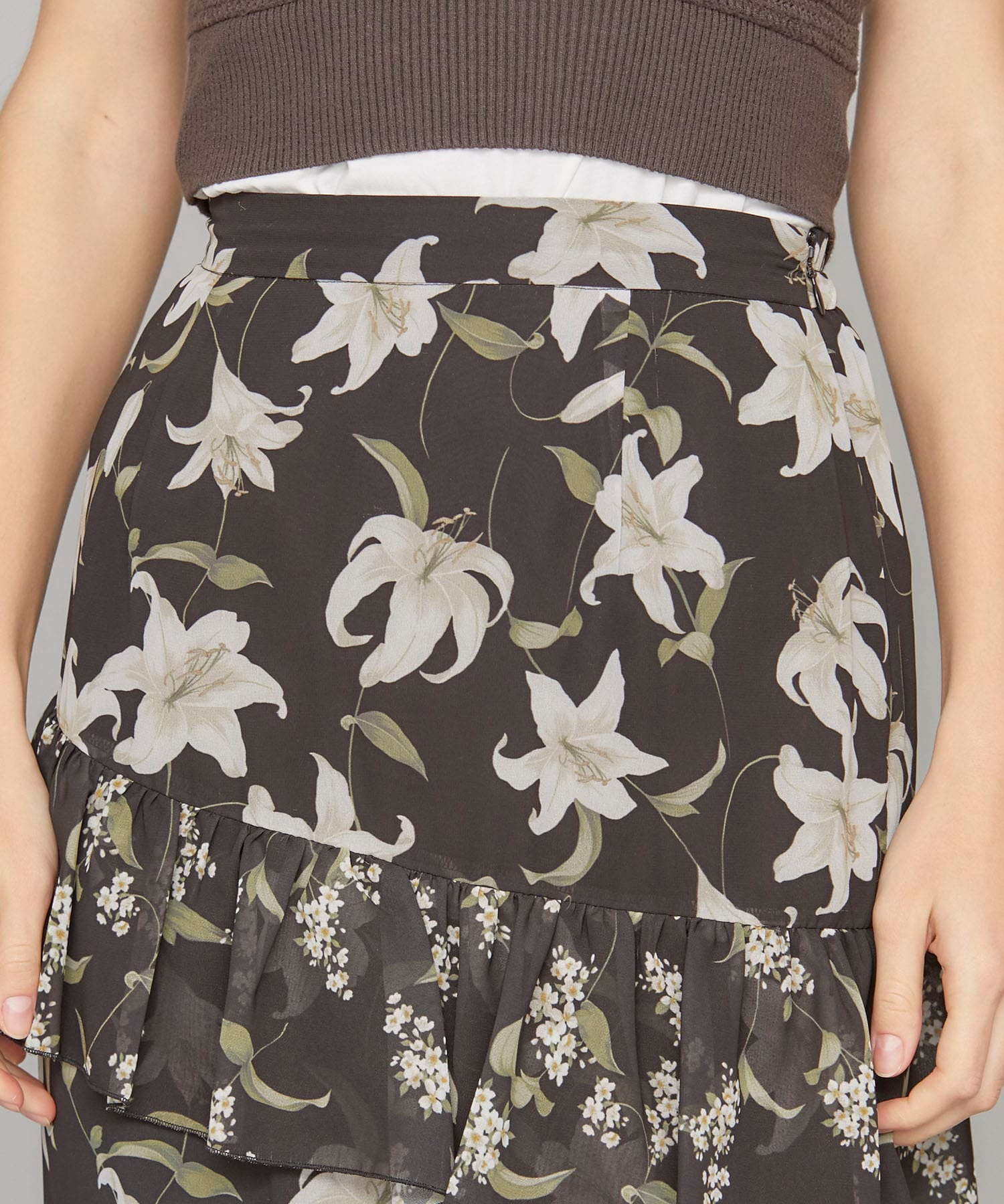 【20%OFF】TWIN LILY OVERLAP SKIRT AMERI