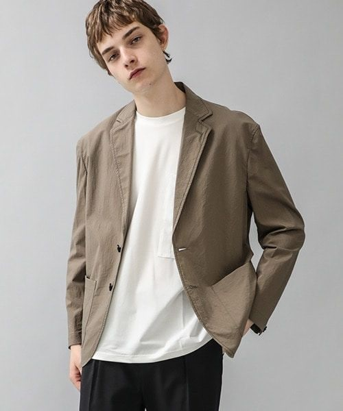 Feather nylon stitch jacket STUDIOUS