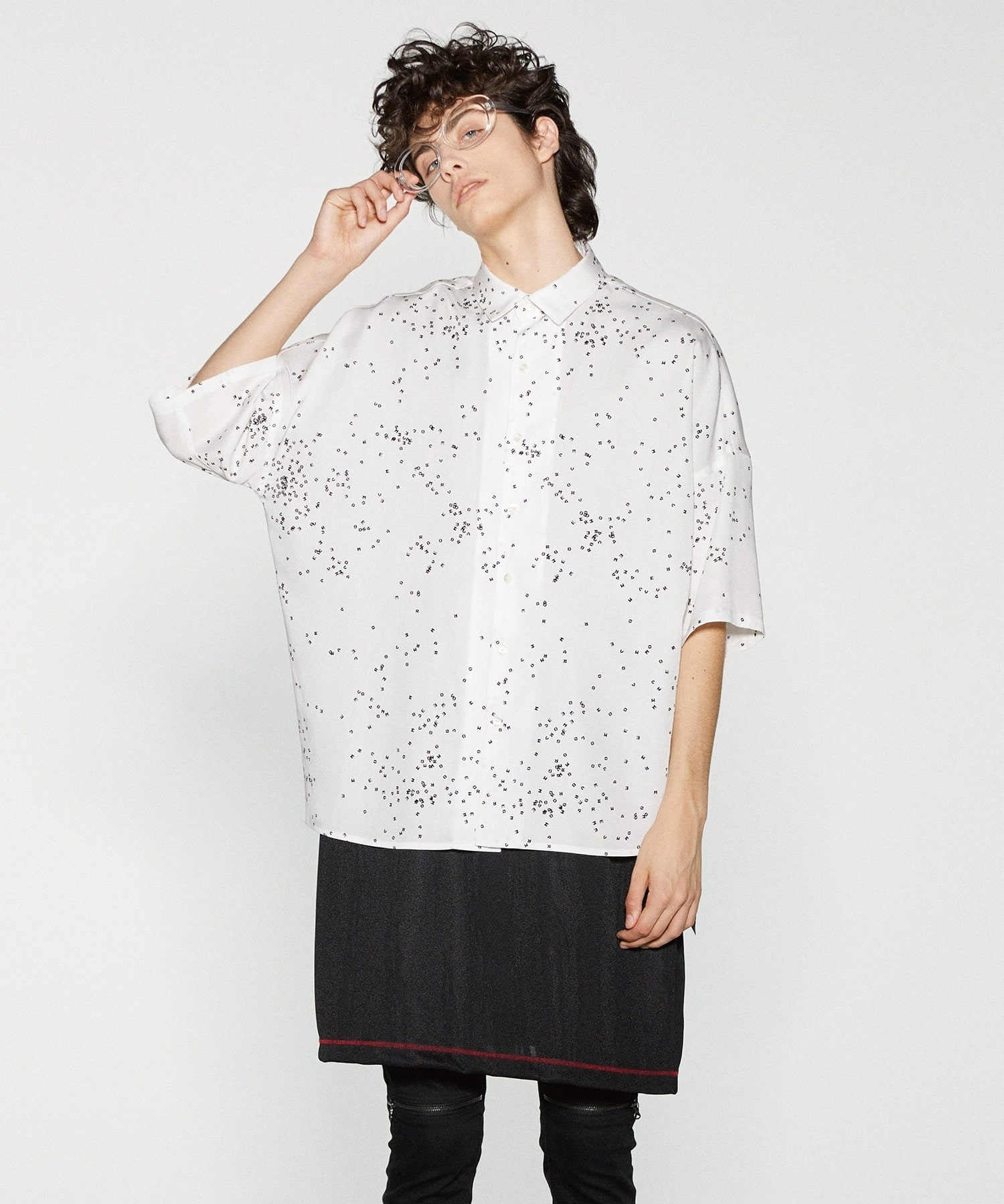 DOT PATTERN S/S BIG SHIRTS SHAREEF