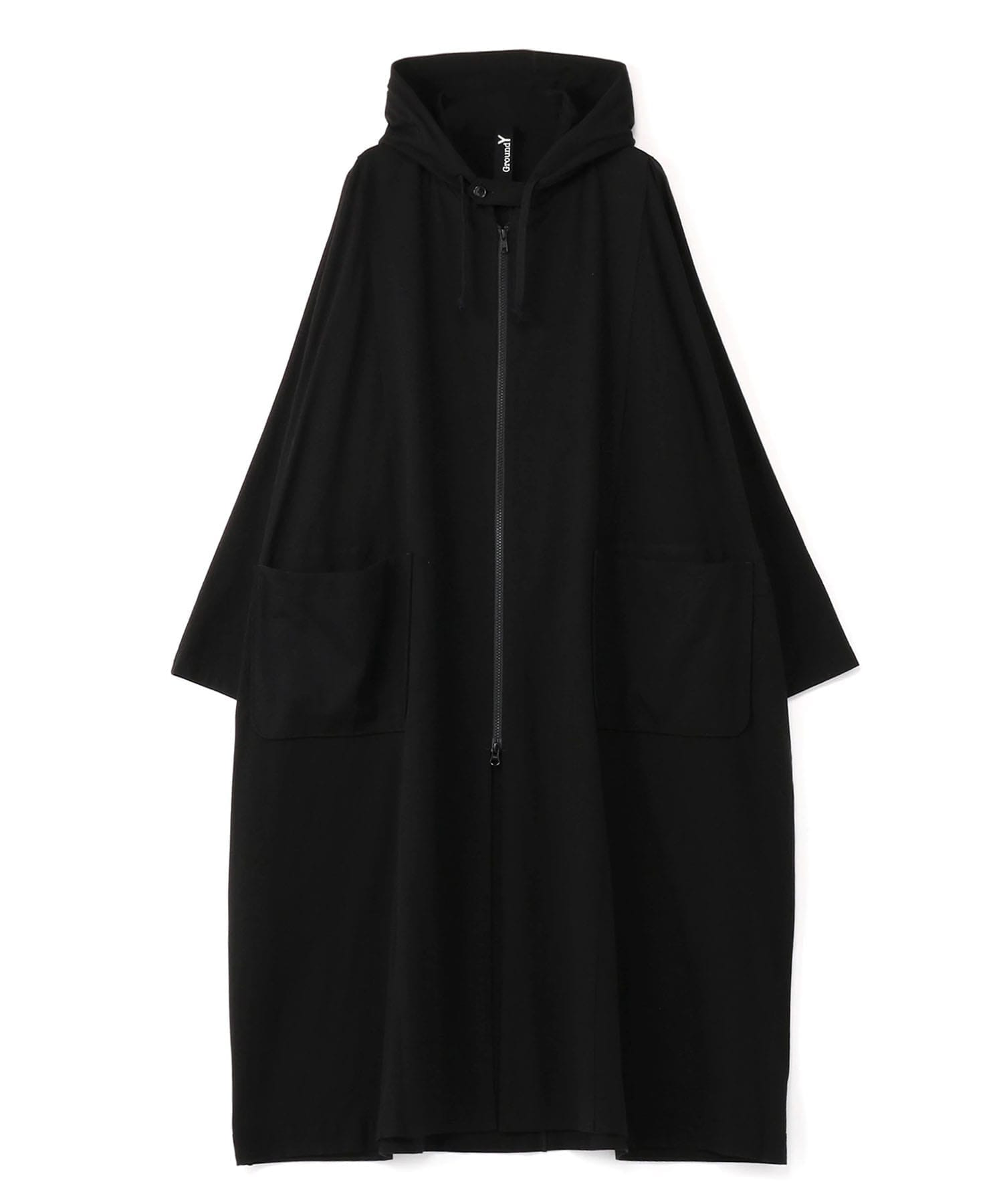 HOODED BIG DRESS COAT GroundY