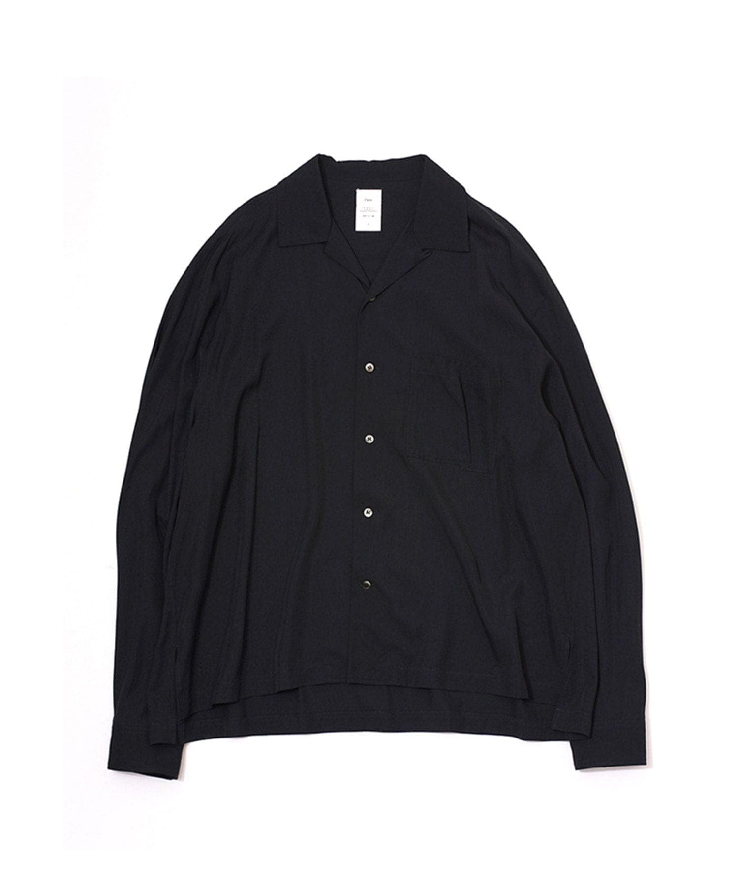 VISCOSE TWILL L/S OPEN COLLAR SH Name.