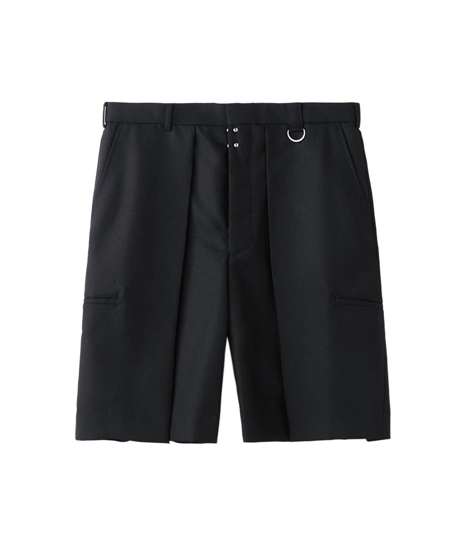 WIDE TUCK SHORTS
