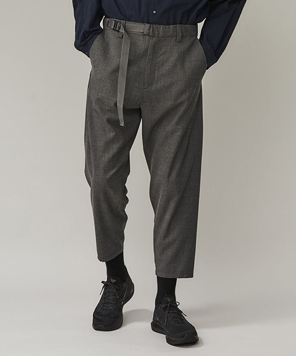 TROPICAL T/W BELTED PANTS White Mountaineering