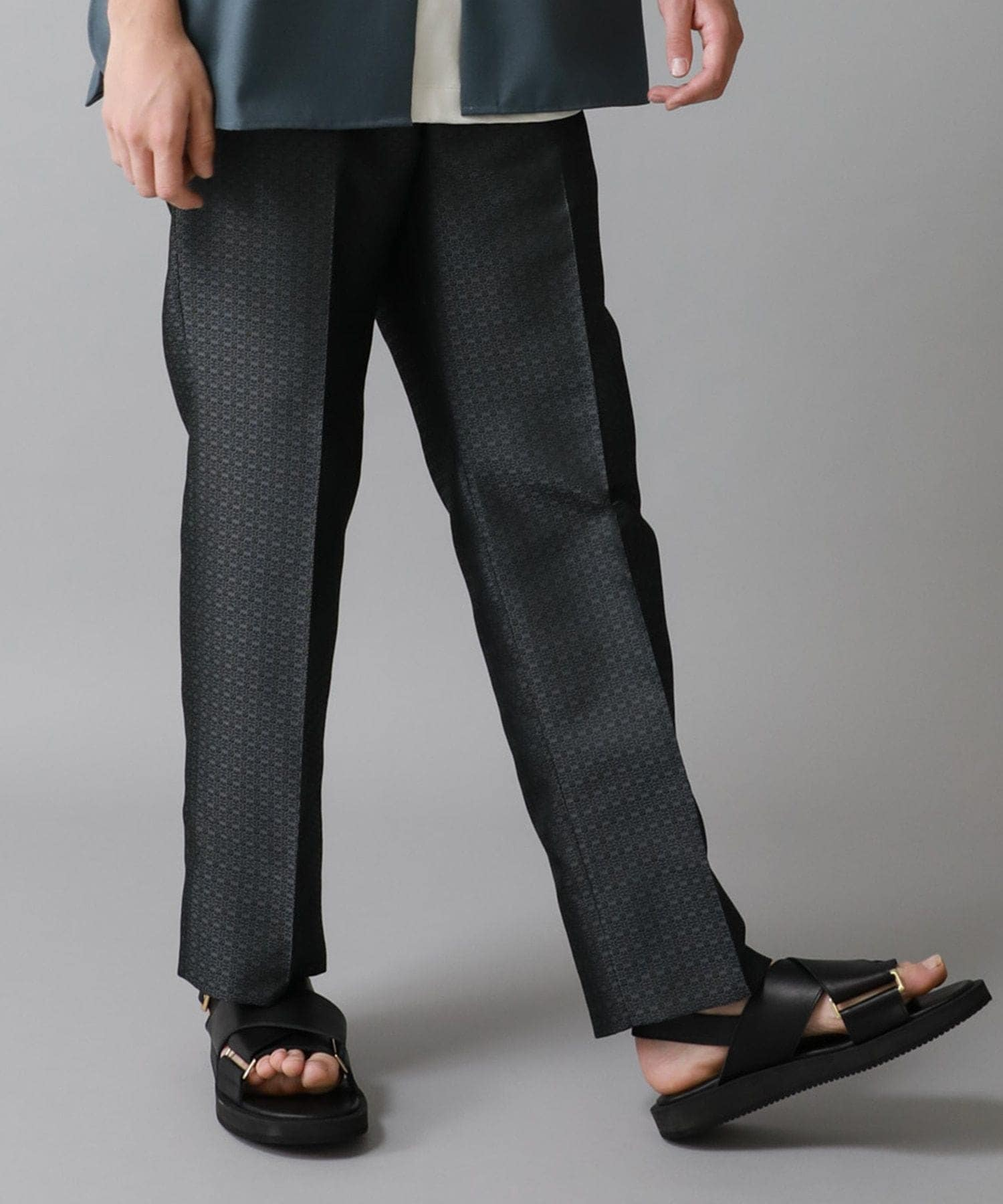 CRAVATE JACQUARD STRAIGHT PANTS