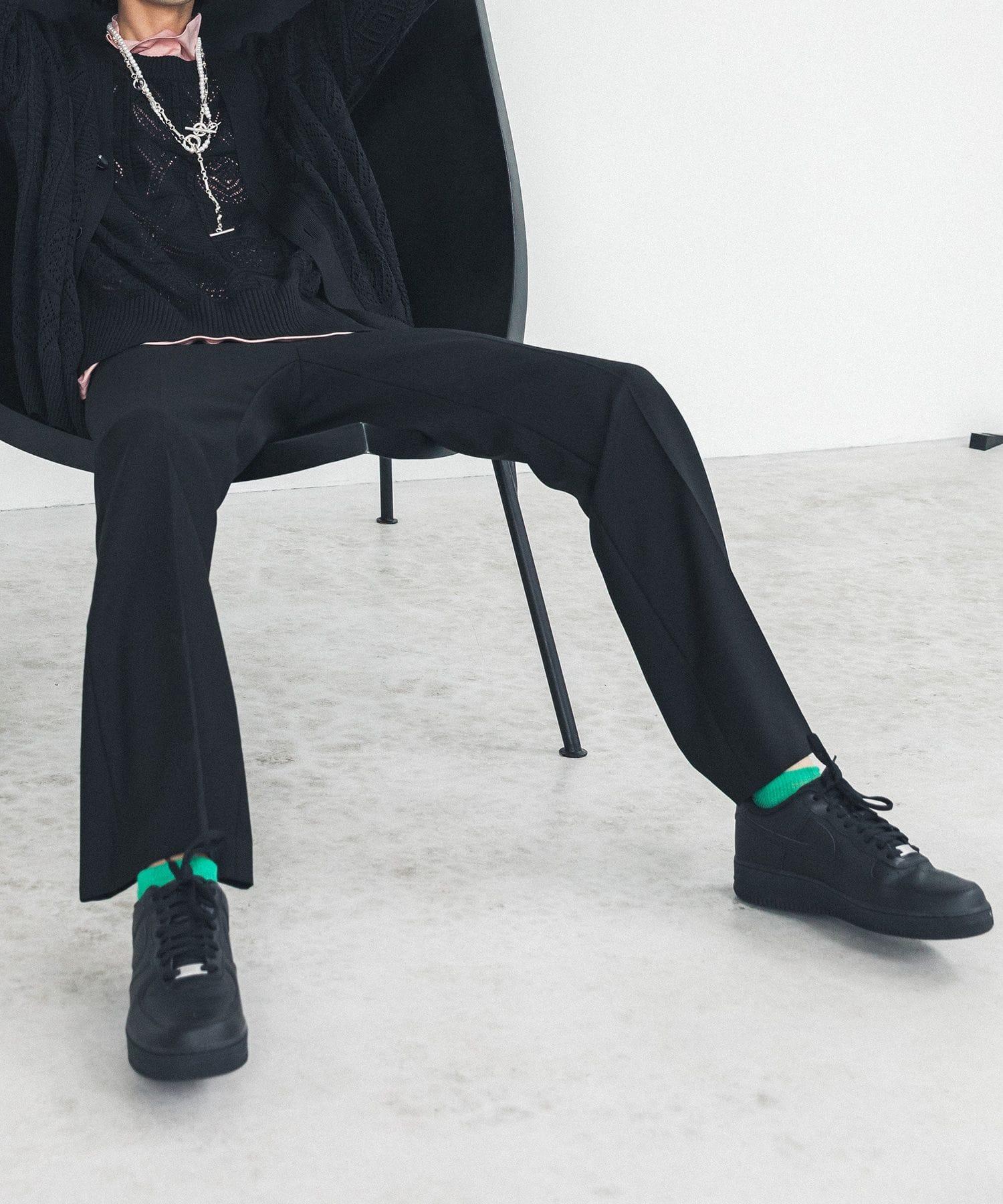 JET BLACK FLARE PANTS