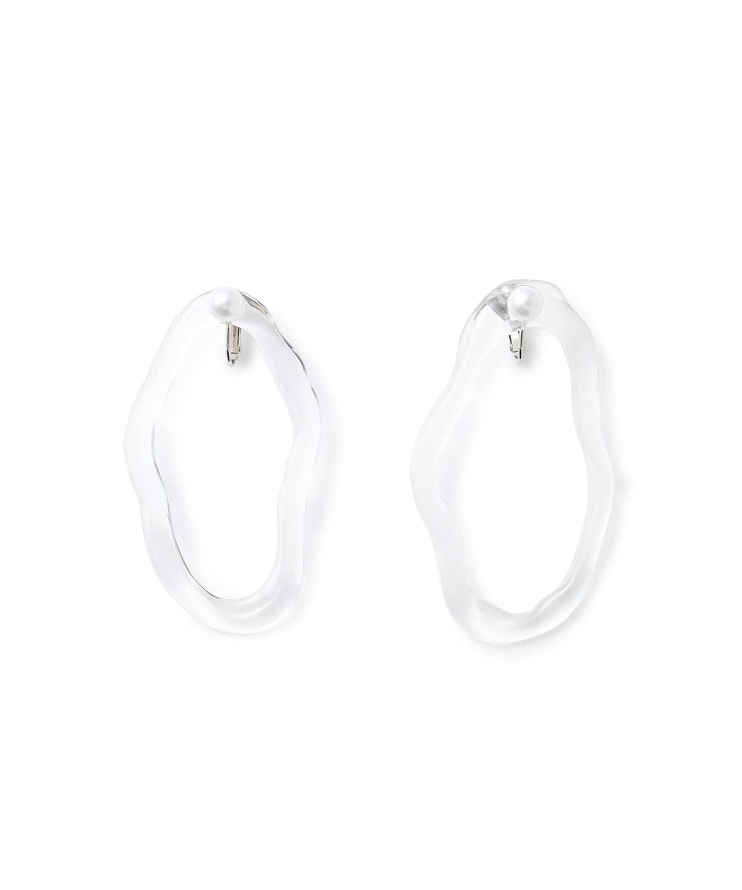 PEARL DROP transparent earring1