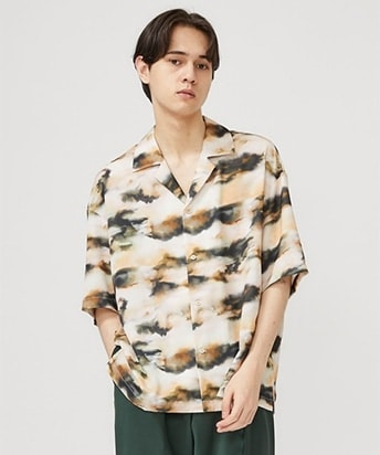 WATER BLEED OPEN COLLAR SHIRTS
