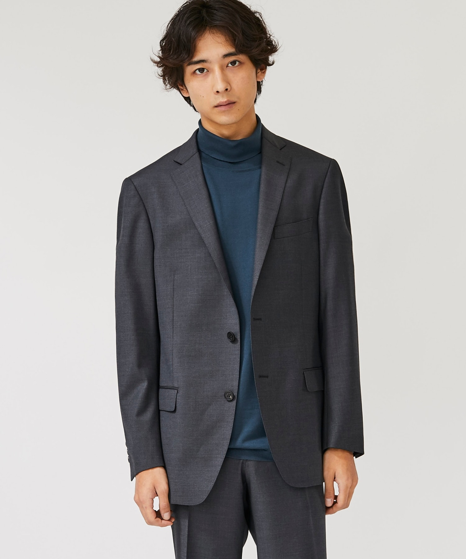 WOOL SILK 2B TAILORED JACKET
