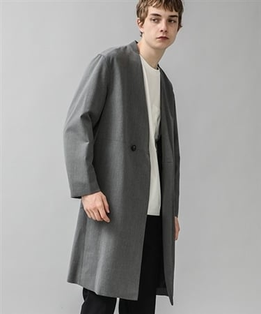 NO COLLAR DOUBLE COAT