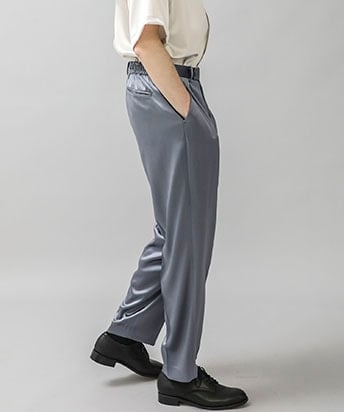 COVER CLOTH 2 PLEATS WIDE TAPERED EASY PANTS
