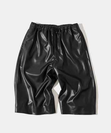 ECO LEATHER SHORT PANTS