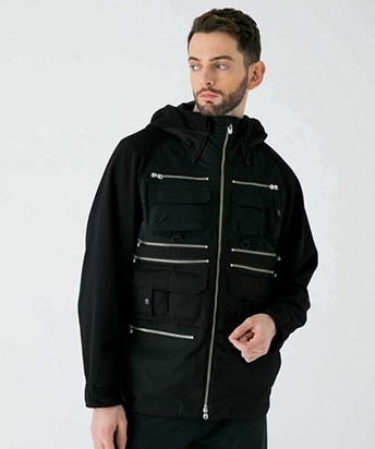 MESH CONTRASTED LUGGAGE PARKA