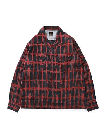 Cut-Off Bottom Classic Shirt-Cu/Ac Jacquard/Plaid