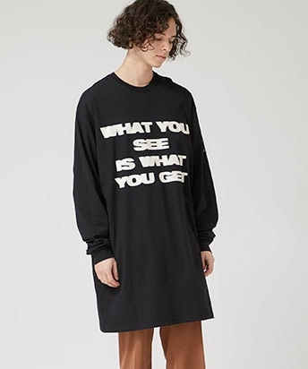 L/S ロングティーシャツ WHAT YOU SEE IS WHAT YOU GET