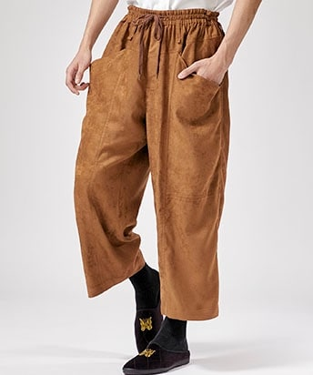 SUEDE HIGH-WAIST EASY PT