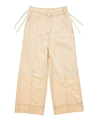 RIBBON WIDE TROUSERS