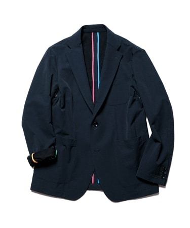 STRETCH DOUBLE CLOTH MULTI PIPING 2BUTTON JACKET