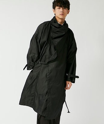 DRAPE WRAP COAT