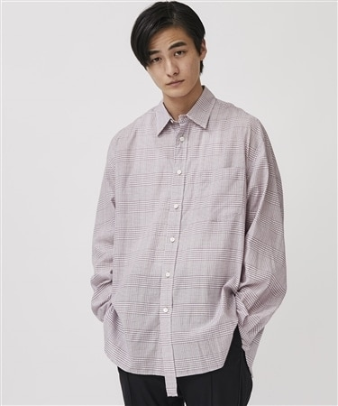 PLAID CUPRA COTTON SHIRT