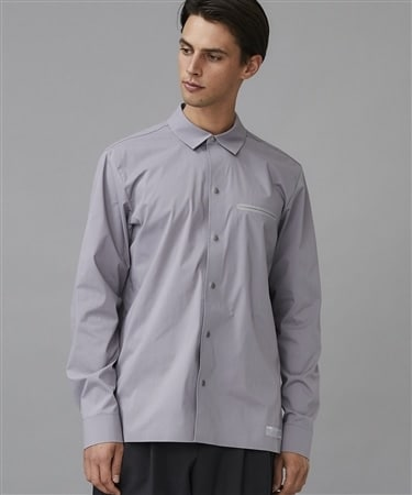 PE/C STRETCH BROAD REGULAR COLLAR L/S SH