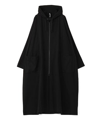 HOODED BIG DRESS COAT