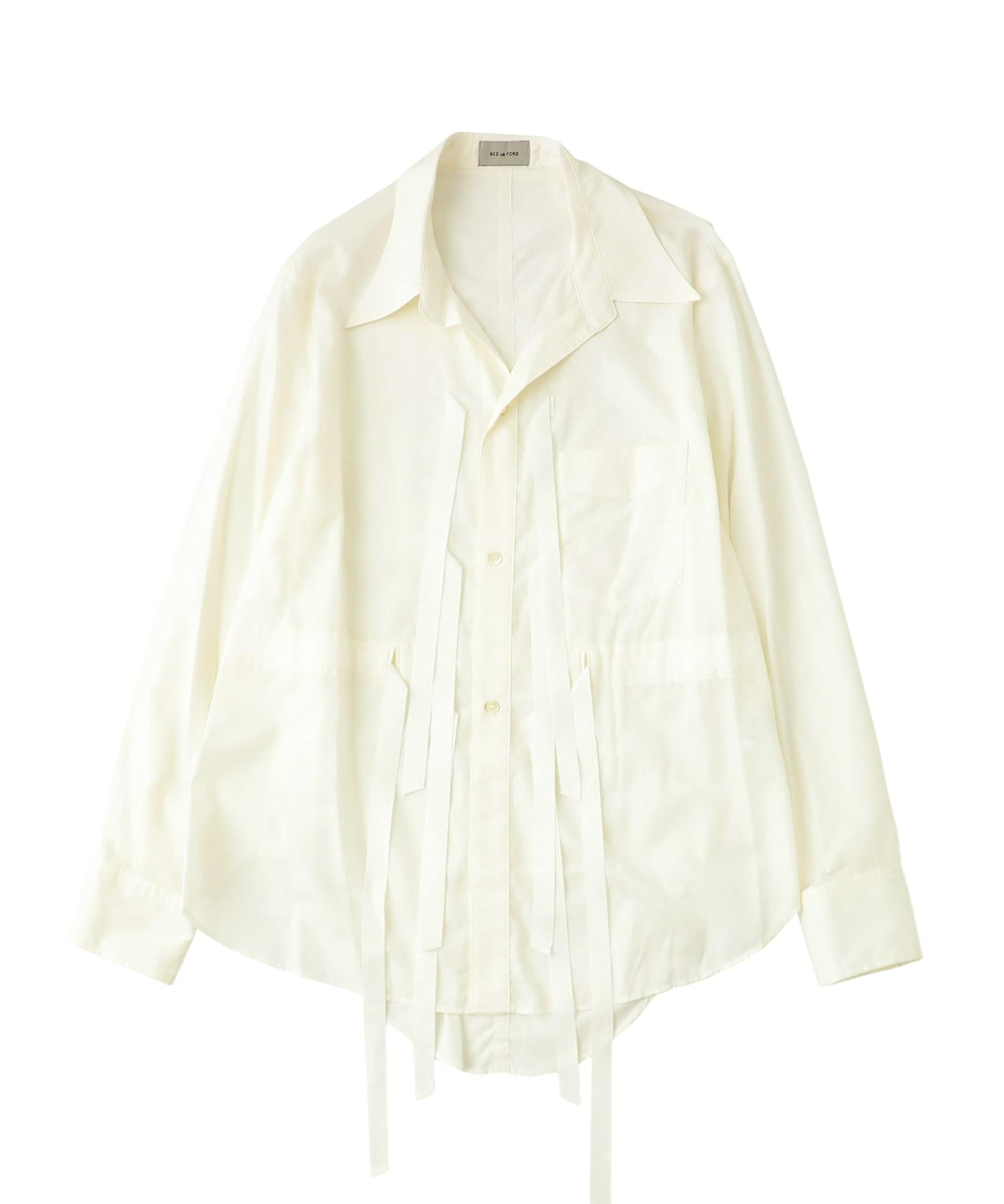 Cotton Silk Ribbon Shirt