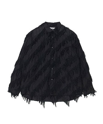 FRINGE JACQUARD BIG SHIRT
