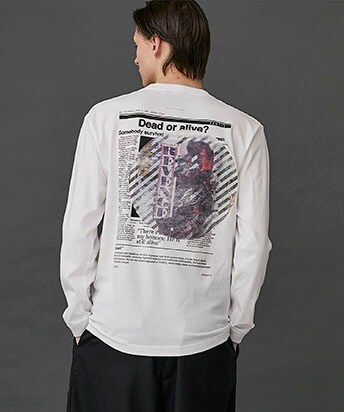 THE GOSSIP MAG.PAPER GRAPHIC L/S TEE