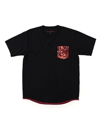 FALLEN LEAVES PRINTED POCKET T-SHIRT