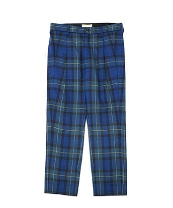 TERTAN CHECK TUCK SLACKS