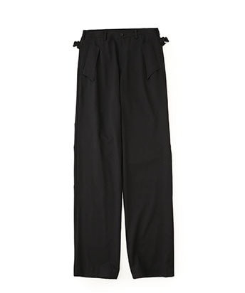 Gabardine back belt pants
