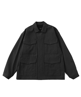 High count poplin blouson
