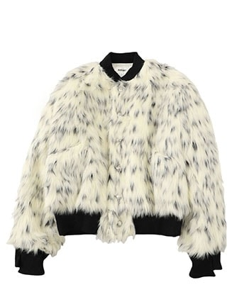 Fur stadium jacket