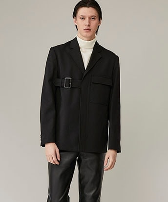 BELTED TAYLORED JACKET