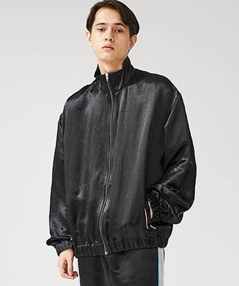 ACETATE SATIN BOMBER JACKET