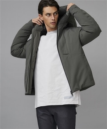 3RAYER LIGHT TAFFETA HOODED BLOUSON