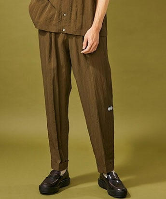 RAYON 2TUCK TAPERED PANTS