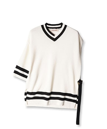 ASYMMETRY SLEEVE SUMMER KNIT